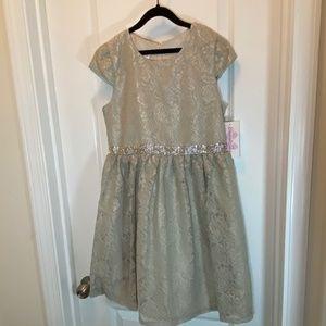 Bonnie Jean Lace Embellished Party Dress
